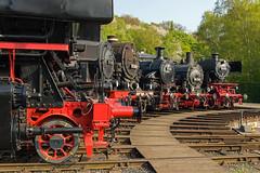 Bochum Dahlhausen draaischijf line-up links (Rob Dammers) Tags: museum db steam bahn deutsche 2014 spoorweg dampf bochumdahlhausen museumtage