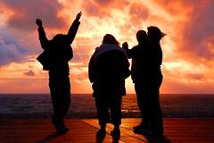 DSC_5047 (Bob A Fox) Tags: ocean sunset people silhouette promenade