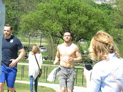 IMG_0089 (FOTOSinDC) Tags: shirtless man hot men muscle candid handsome sweaty sweat runners shorts runner joggers jogger