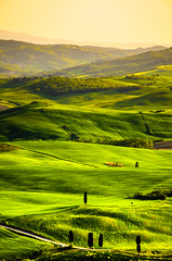 Val d'Orcia (Tej Utah) Tags: green nature yellow landscape italia hill aerial tuscany siena toscana slope cityescape