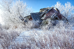 Frost (Explore - Best Position #17 - May 14, 2016) (B.E.K.) Tags: trees winter snow ontario abandoned architecture landscape frost structure explore shelburne dundalk slumpy nikon173528 nikond800
