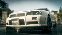 Nissan (Velvet Pines) Tags: road rain skyline race nissan gt gtr driveclub