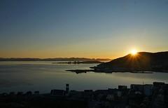 midnight sun (birgithm) Tags: sunset sea landscape coast seaside outdoor dusk arctic shore midnightsun finnmark northernnorway nortnernnorway