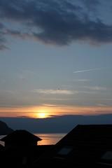 coucher de soleil sur le Lman (Juste un Clic) Tags: sunset sky sun lake airplane soleil photographie lac ciel avion coucherdesoleil lacleman stgingolph saintgingolph iphoneography justeunclic