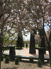May on the State Capitol Grounds (bmw328driver) Tags: flowers sculpture minnesota statue memorial blossoms stpaul mn koreanwarmemorial crabapple crabappletree