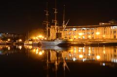 Kaskelot, Bristol (sgreen757) Tags: street reflection water night bristol lights boat nikon long exposure ship harbour tall princes hsbc harbourside kaskelot d7000