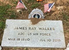 Walker Headstone (eloisedv) Tags: oklahoma cemetery headstone gravemarker cartercounty lonegrove
