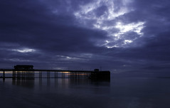 Penarth pier at dawn (TyroneRose) Tags: sea seascape beach wales clouds sunrise reflections dawn coast pier penarth samsungnx20 tyronerose