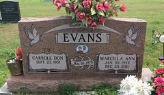 Evans Headstone (eloisedv) Tags: oklahoma cemetery headstone gravemarker cartercounty lonegrove
