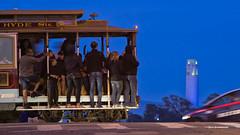 Cable Car - San Francisco (davidyuweb) Tags: tower car san francisco cable coit sfist luckysnapshot