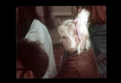 ss23-66 (ndpa / s. lundeen, archivist) Tags: people woman color film face boston massachusetts nick profile slide blond blonde slideshow mass 1970s youngwoman bostonians bostonian dewolf early1970s nickdewolf photographbynickdewolf slideshow23