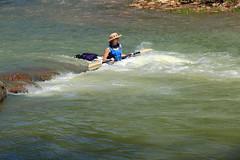 Kayaker in Rough Water on Buffalo River - Steel Creek Campground, Northwest Arkansas (danjdavis) Tags: kayak kayaking arkansas kayaker buffalonationalriver buffaloriver steelcreekcampground