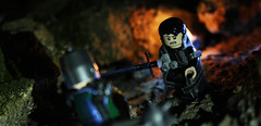 Swordland (Kyle Hardisty) Tags: macro art field canon kyle outside outdoors photography death flickr gun lego fig cosplay alo creation online sword minifig sao depth minifigure moc 2016 ggo microscale asuna kirito hardisty elucidator