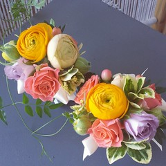 mothers' wrist corsages (Flower 597) Tags: centerpiece corsage weddingflowers weddingceremony boutonniere bridalbouquet weddingbouquet weddingflower floralcrown weddingflorist ceremonyarch flower597 torontoweddingflorist