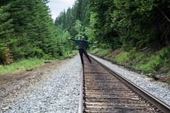 Me foolin' (roberts.alex37) Tags: forest train fraserriver frasercanyon secluded cprail northbend