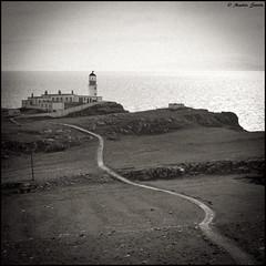 A different view (Martin Steele.) Tags: lighthouse scotland view isleofskye grain crop aged vignette squarecrop neistpoint