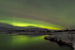 Milky way and aurora (Gulli Vals) Tags: park snow mountains tree water reflections stars iceland national aurora thingvellir ingvellir sland northernlights tr snjr vatn skuggi skuggar speglun fjll stjrnur jgarur mygearandmesilver mygearandmegold norursljs gullivals