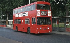 London Transport . DMS28 EGP28J . Walthamstow Central Bus Station . 14th-September-1981 . (AndrewHA's) Tags: bus walthamstow daimler fleetline parkroyal londonbus londontransport chingford crg6 dms28 route97a egp28j