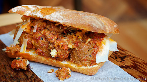 Meat & Bread: meatball sandwich