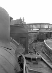 View through spectacle glass of no.17 'Seaview' at Cowes. 2 October 1965 (ricsrailpics) Tags: uk station steam isleofwight cowes 1965 iow