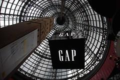 GAP Cube, Shot Tower Cone - Melbourne Central (avlxyz) Tags: melbourne vic mindthegap melbournecentral shottower resistanceisfutile borgcube melbournevic magiccone coopsshottower melbournecentralshoppingcentre shottowercone