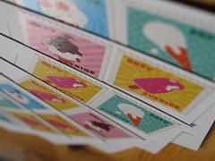 Ansichtkaarten - Post cards (naturum) Tags: autumn fall glass geotagged sweden lappland herfst september stamp icecream lapland sverige postzegel höst zweden ijsje 2011 norrbotten frimärke sápmi sameland ritsem thechallengefactory geo:lat=6772219986 geo:lon=1746974230
