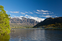 Lake Wakitipu in Frankton, NZ. (Kalabird) Tags: new lake mountains zealand southisland otago frankton lakewakitipu