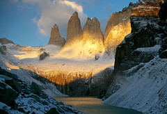Sunrise, Torres (Jessie Reeder) Tags: chile travel camping patagonia mountains deleteme7 southamerica trek landscape nationalpark savedbythedeletemegroup paisaje hike saveme10 international andes torresdelpaine montaas saveme11 parquenacional parquenacionaltorresdelpaine sudamrica absolutelystunningscapes turichile photocontesttnc12