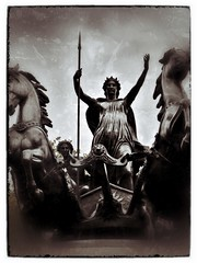 Boadicea - London, England - 2011 - #2 (CJPolitzki) Tags: london vintage flickr grunge iphone boadicea ipodtouch snapseed