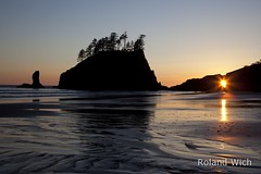 Olympic N.P. - Second Beach (Rolandito.) Tags: park usa beach la washington pacific northwest national second push olympic np