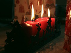 3. Advent (CRE@!V!TY) Tags: christmas xmas red tree rot fire candles advent feuer flamme kerzen tte thirs dritter