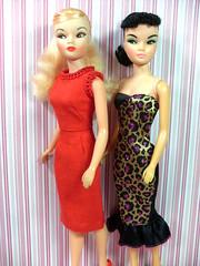 My Suzettes! I love them! (Joey4MaryMagpie) Tags: vintage doll barbie clone suzette uneeda