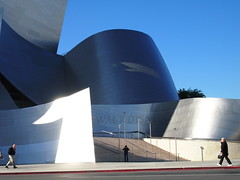 Walt Disney CH-3 (El Trinidad) Tags: california usa building architecture pen losangeles downtown steel bluesky olympus entertainment stainless waltdisney ep3 concerthall eltrinidad olympusep3 ep2ep3