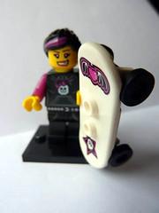 Skater Girl (Front) (bigospedros) Tags: lego series6 collectableminifigs
