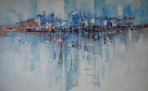 Harbour City - Painting - Abstract Fine Art
