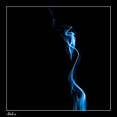Helix (lavsen) Tags: blue abstract art nature closeup square close smoke curves ethereal abstraction elegant curve curved elegance smokeart macrom