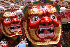 tibetan masks (rongpuk) Tags: people india mountains festival mask monastery monks tibetan himalaya tak ladakh gompa dances thok