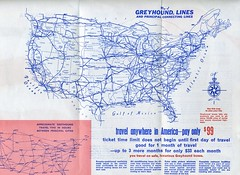 """Greyhound """"See the USA"""" for $99 leaflet issued 1968, side 2 of 2 (NE2 3PN) Tags: greyhound bus 99 1968 seeamerica scenicruiser"""