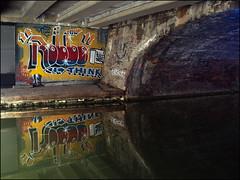 RIP King Robbo (Alex Ellison) Tags: urban streetart reflection pasteup graffiti canal boobs camden rip think banksy reflected regentscanal tribute doze 1985 robbo northlondon cartrain wrh pranksy werockhard kingrobbo banksyvsrobbo teamrobbo wrh25