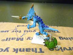 Skink #1 - Details (beadskinz) Tags: painting miniatures fantasy warhammer gamesworkshop skinks lizardmen