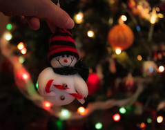 Where did you come from? {Explored} (susivinh) Tags: christmas adorno toy lights navidad luces snowman bokeh christmastree ornament juguete happynewyear mistery misterio felizañonuevo arboldenavidad muñecodenieve
