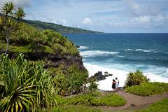 Haleakala National Park 4890 (PKMousie) Tags: blue green water beautiful canon eos hawaii bay maui jungle foam lush kipahulu haleakalanationalpark ohe 5dmarkii 5dii ogulch