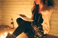 Glow (Scott Southall) Tags: portrait amanda film beer girl project fire model nikon candle superia letter fujifilm loveletter kickstarter 122011
