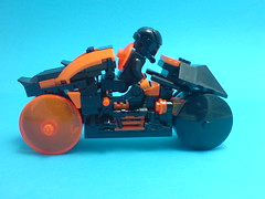 Rinzler's Light Cycle (with driver) (Kingmarshy) Tags: light lego walker cycle tron legacy moc kingmarshy