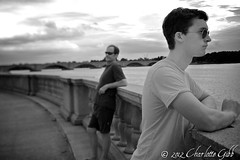 Father and Son - Potomac River, DC (Charlotte Hamilton Gibb) Tags: bridge blackandwhite college water river washingtondc dc washington university potomac fatherandson georgewashingtonuniversity tiltshift charlottehamiltongibb charlottehamilton charlottegibbphotography charlottegibb