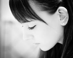 Chiara (Giovanbattista Brancato) Tags: portrait people blackwhite eyes persone chiara ritratto biancoenero beautifulgirl canon85mm18 canon40d