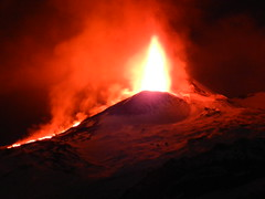 and thus Etna greeted the year 2012 (etnaboris) Tags: winter italy snow volcano lava sicily etna 2012 thegreatestshowonearth paroxysm lavafountain newsoutheastcrater paroxysmaleruptiveepisode