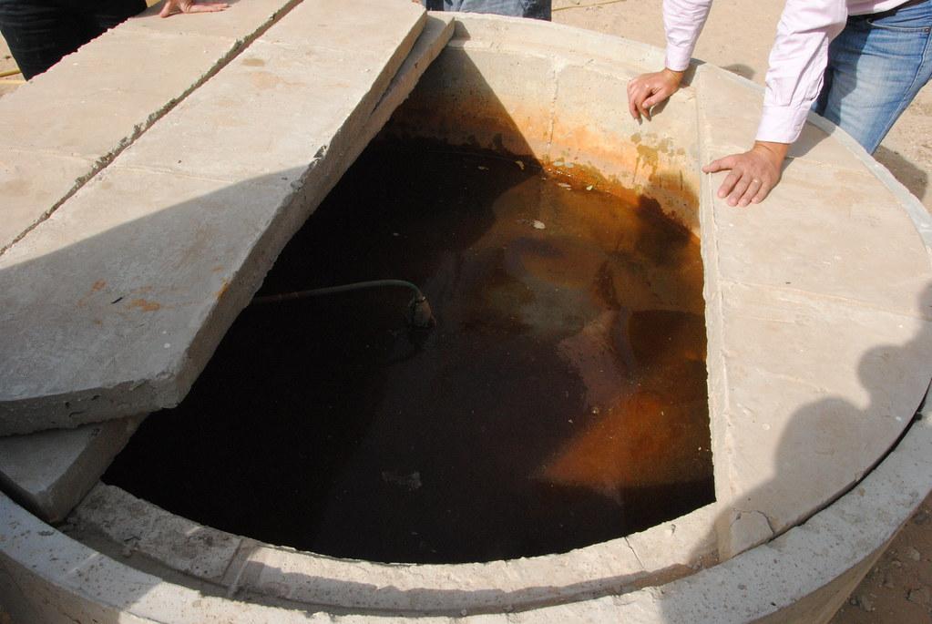Reservoir Biogaz en ciment - Biodigesteur