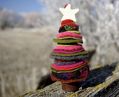 sweater felted tree