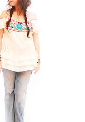 Dulce off shoulder ruffled Mexican blouse (Aida Coronado Galeria) Tags: travel wedding woman art love colors girl fashion vintage mexico clothing colorful handmade turquoise traditional moda artesanal frida clothes mexican dresses oaxaca chic etsy boho ethnic gypsy embroidered bohemian maxi whimsical huichol bordado etnico bohochic mexicandress handembroidered mexicoart mexicanwedding mexicantextiles mexicanclothes artfrommexico aidacoronado aidacoronadocom mexicanmaxidress bohofolk